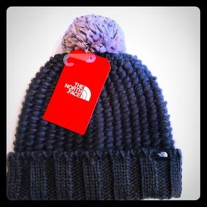 The North Face- cozy chunky beanie hat black